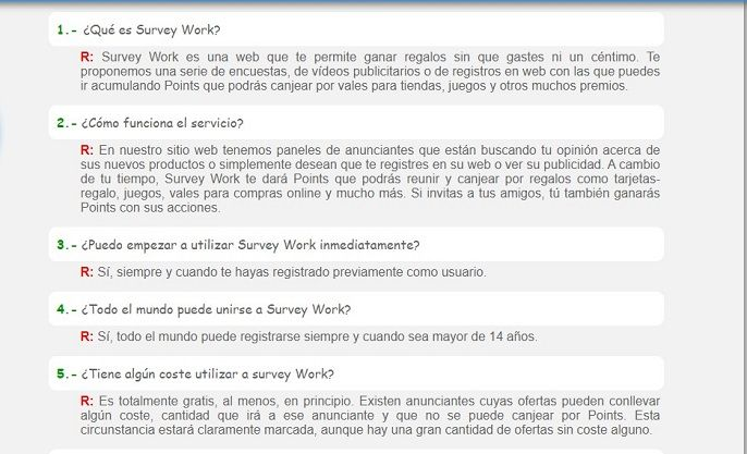 survey work como funciona