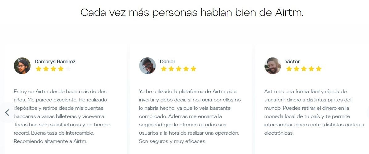 Airtm opiniones