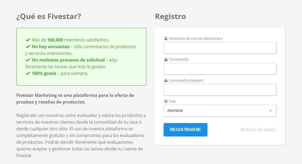 Fivestar registro
